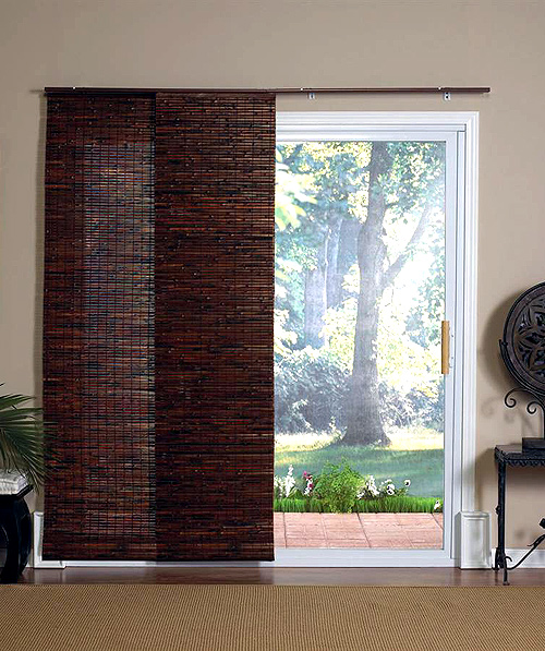 Bamboo Sliding Glass Door Curtains 500 x 597