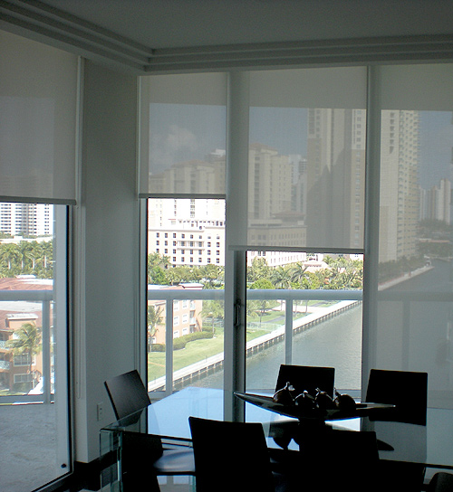 Roll Up Blinds : Doors and windows blinds miami roll up shades