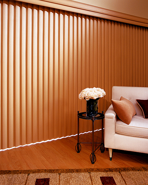 Faux Wood Vertical Blinds 500 x 625